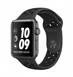 Смарт-часы Apple Watch Series 3 38mm (MQKY2) Space gray Aluminium Case with Anthracite/Black Nike Sport Band