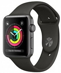 Смарт-часы Apple Watch Series 3 38mm MTF02 Aluminum Case with Black Sport Band