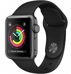 Смарт-часы Apple Watch Series 3 38mm (MTF02) Space gray Aluminium Case with Anthracite/Black Sport Band
