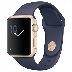 Смарт-часы Apple Watch Series 2 38mm Aluminum Case with Sport Band (MQ132) Gold Al/Blue